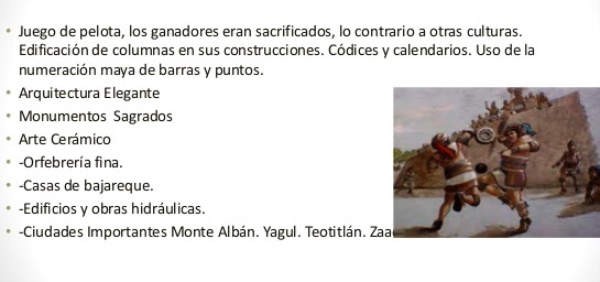 Aportaciones de la cultura Zapoteca