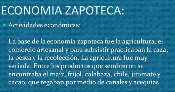 Economía de la cultura Zapoteca