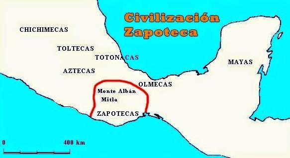 Ubicación geográfica de la cultura Zapoteca